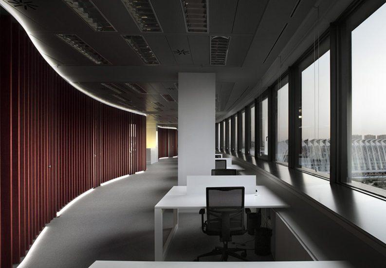 vista de oficinas ciudad de las artes