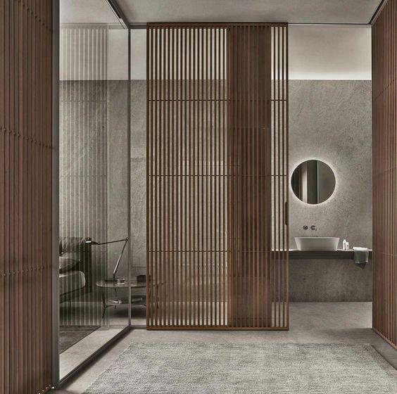decoración de baño espejos