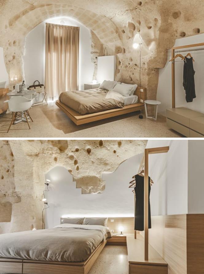 habitación estilo cueva